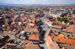 Medieval Sibiu town in Romania Royalty Free Stock Image