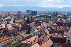 Medieval Sibiu town in Romania Stock Photo