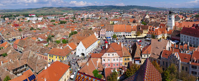 Medieval Sibiu town in Romania Royalty Free Stock Photography