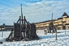 Medieval siege machines stock photo