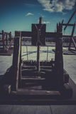 Medieval siege weapons, crossbows, onagers, catapults and batter Royalty Free Stock Photos