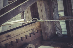 Medieval siege weapons, crossbows, onagers, catapults and batter Royalty Free Stock Photo