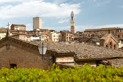 Medieval Siena in the spring. Tuscany, Italy. royalty free stock photo