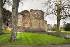 Medieval Skipton Castle. Medieval Skipton Castle in North Yorkshire, Great Britain Royalty Free Stock Photos