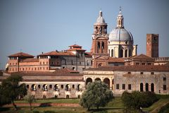 Medieval skyline, Mantua, Italy Stock Images