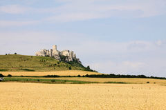 Medieval Slovakia Spis Castle, biggest by Area in central Europe Royalty Free Stock Image