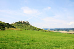 Medieval Slovakia Spis Castle, biggest by Area in central Europe Stock Photos