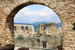 Medieval Slovakia Spis Castle, biggest by Area in central Europe. Historical Slovakia Spis Castle, biggest by Area in central Europe royalty free stock photography