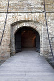 Medieval smart gate. In old castle Royalty Free Stock Images