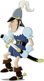 Medieval soldier. Cartoon the European medieval soldier Royalty Free Stock Photography