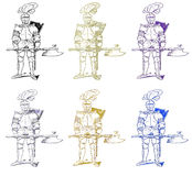Medieval soldier armor Royalty Free Stock Images
