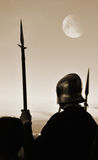 Medieval soldier Stock Images