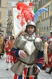 Medieval soldier in a reenactment in Italy. Medieval reenactment is a form of historical reenactment that focuses on re-enacting European history in the period Royalty Free Stock Photography