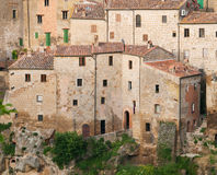 Medieval Sorano town in Italy. Sorano, the ancient town in Tuscany, Italy Stock Images