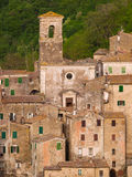 Medieval Sorano town in Italy. Sorano, the ancient town in Tuscany, Italy Stock Photo
