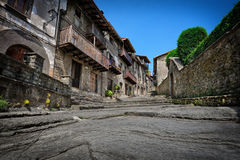 Medieval Spanish town Stock Photography