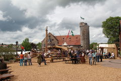 Medieval spectacle in Kuelsheim Stock Photography