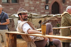 Medieval spectacle in Kuelsheim Stock Photo