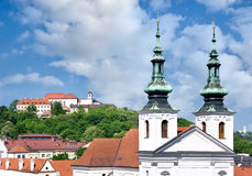 Medieval Spilberk fort and prison, town Brno, Moravia, Czech rep Royalty Free Stock Photography