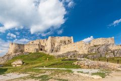 The medieval Spis Castle. The medieval Spis Castle, central Europe, Slovakia stock image