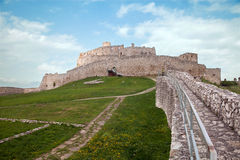 Medieval Spis Castle in Slovak Republic. Biggest by area in central Europe royalty free stock photos