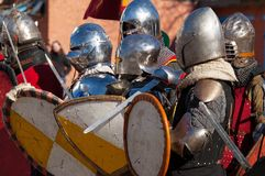 Medieval squad Royalty Free Stock Image