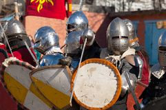 Medieval squad Stock Photo