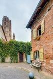Medieval square in Albi, France Stock Photo