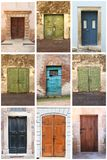 Medieval squared front doors royalty free stock images