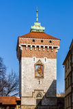 Medieval St.Florian's Gate tower Royalty Free Stock Photos