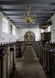 Medieval Stadil Church interior in Denmark Royalty Free Stock Image