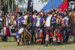 Medieval staged battle - Rievocandum 2015 Stock Images