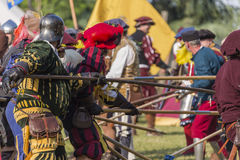 Medieval staged battle - Rievocandum 2015 Royalty Free Stock Photography