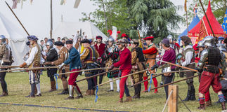 Medieval staged battle - Rievocandum 2015 Royalty Free Stock Images
