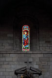 Medieval stained glass Royalty Free Stock Photos