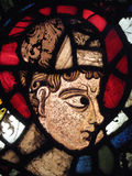 Medieval Stained Glass Canterbury Cathedral. Head of Patriarch Semel shown in an image on a medieval 12th century stained glass window from Canterbury Cathedral Stock Images