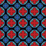 Medieval stained glass gothic seamless pattern Royalty Free Stock Photo
