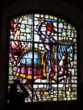 Medieval Stained Glass Window Royalty Free Stock Photos