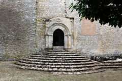 Medieval staircase and portal Royalty Free Stock Images