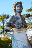 Medieval statue at Castello, Conegliano. Medieval female statue at Castello, in Conegliano Veneto, in Veneto, Treviso region, north Italy Stock Photo