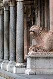 Medieval statue of a lion, Cremona, Italy Royalty Free Stock Images