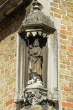 Medieval statue of Mary with child Christ Royalty Free Stock Photo