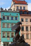 Medieval statue of merimade, Warsaw Royalty Free Stock Images