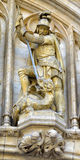 Medieval statue of Saint George Royalty Free Stock Photo