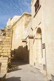 Medieval steet in Victoria, Gozo, Malta Royalty Free Stock Photos