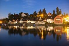 Medieval Stein am Rhein, Switzerland at Night Royalty Free Stock Photography