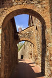 Medieval Stone Arches San Gimignano Italy Royalty Free Stock Images