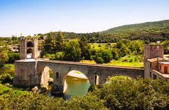 Medieval stone bridge Stock Photos