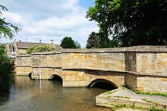 Medieval stone bridge, Burford. Royalty Free Stock Image
