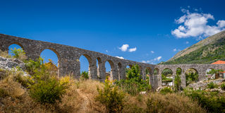 Medieval stone bridge in the Old Bar town Stock Image